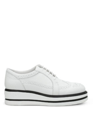 Hogan: lace-ups shoes - H323 New Route wedge shoes