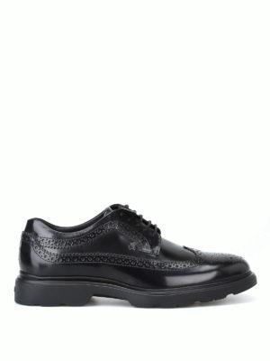 HOGAN: scarpe stringate - Derby stringate H393 nere con memory foam