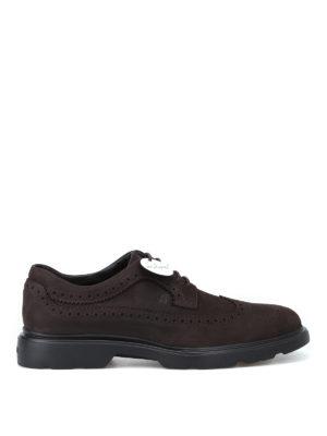 HOGAN: scarpe stringate - Derby stringate H393 in nabuk
