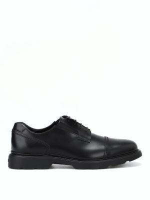 HOGAN: scarpe stringate - Derby H393 con fussbett in memory