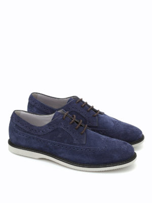 Hogan: lace-ups shoes online - Club suede Derby shoes