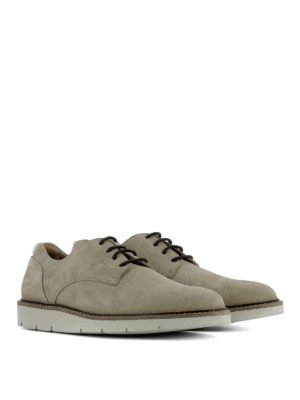Hogan: lace-ups shoes online - Dress X - H322 suede Derby shoes