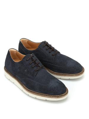 Hogan: lace-ups shoes online - Dress X H322 suede Derby