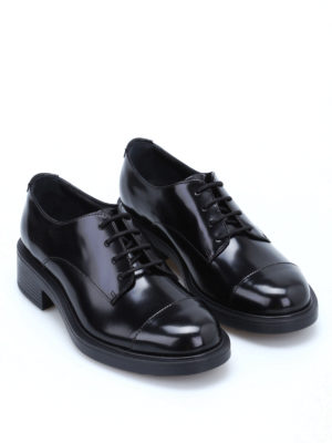 Hogan: lace-ups shoes online - H 332 glossy leather lace-ups