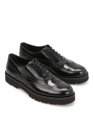 Hogan: lace-ups shoes online - H259 polished leather derby shoes
