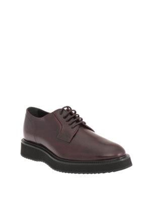 Hogan: lace-ups shoes online - H271 Route leather Derby shoes