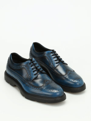 Hogan: lace-ups shoes online - H304 leather Derby brogue shoes