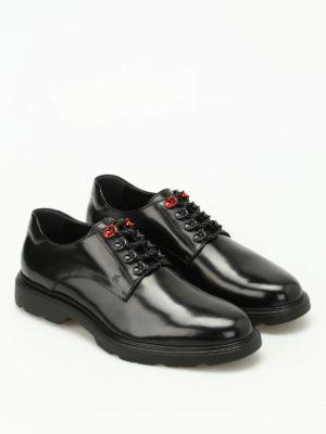 Hogan: lace-ups shoes online - H304 New Route black Derby shoes