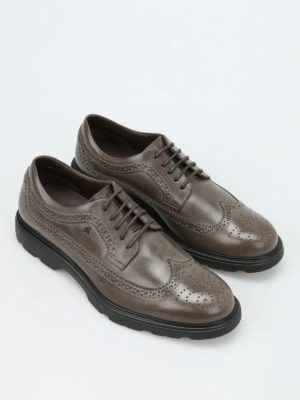 Hogan: lace-ups shoes online - H304 New Route leather Derby shoes