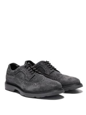 Hogan: lace-ups shoes online - H304 New Route suede derby shoes