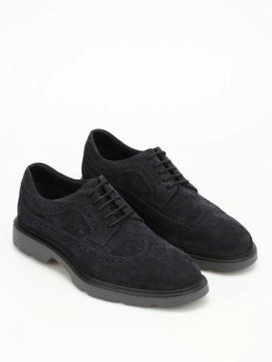 Hogan: lace-ups shoes online - H304 suede Derby brogue shoes