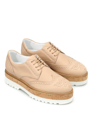 Hogan: lace-ups shoes online - H317 Route leather shoes