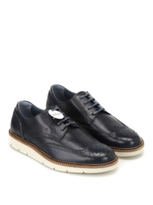 Hogan: lace-ups shoes online - H322 dark blue Derby shoes