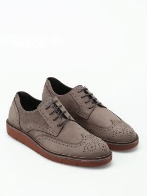 Hogan: lace-ups shoes online - H322 Derby brogue nubuck shoes