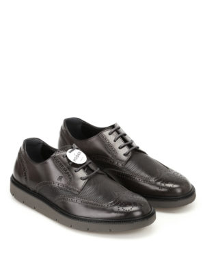 Hogan: lace-ups shoes online - H322 Derby leather brogue shoes