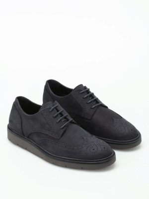 Hogan: lace-ups shoes online - H322 Derby nubuck brogue shoes