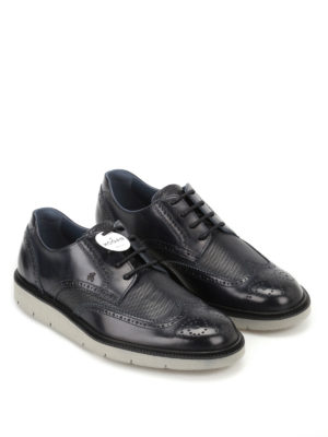 Hogan: lace-ups shoes online - H322 smooth leather derby shoes