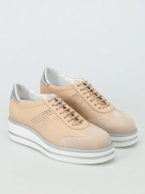Hogan: lace-ups shoes online - H323 New Route wedge lace-ups