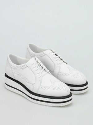 Hogan: lace-ups shoes online - H323 New Route wedge shoes
