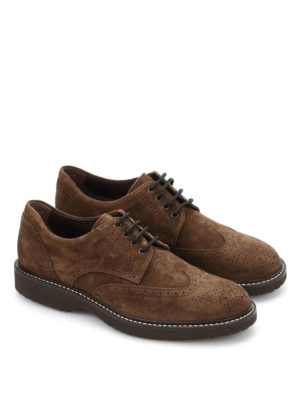 Hogan: lace-ups shoes online - Route H217 suede brogue derby