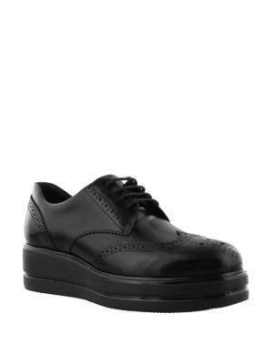 Hogan: lace-ups shoes online - Route H323 leather Derby brogues