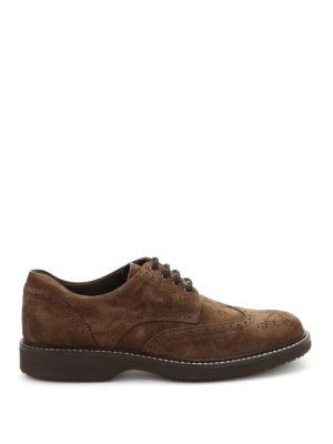 Hogan: lace-ups shoes - Route H217 suede brogue derby