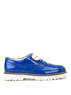 Hogan: lace-ups shoes - Route H259 blue patent Oxford shoes