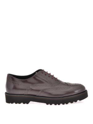 Hogan: lace-ups shoes - ROUTE H259 BROGUE LEATHER LACE-UPS