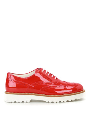 Hogan: lace-ups shoes - Route H259 red patent Oxford shoes