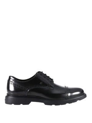 Hogan: lace-ups shoes - Route H304 leather derby shoes
