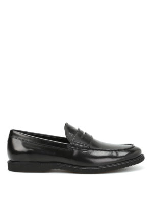 Hogan: Loafers & Slippers - Brushed leather loafers