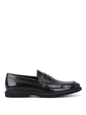 Hogan: Loafers & Slippers - Club Guardolo leather loafers