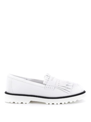 Hogan: Loafers & Slippers - Fringed leather loafers