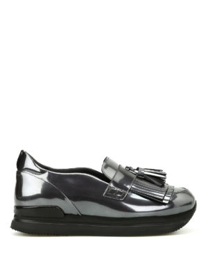 Hogan: Loafers & Slippers - H222 metallic fringed loafers