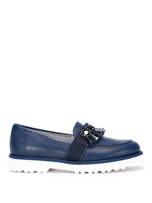 Hogan: Loafers & Slippers - H259 embellished loafers