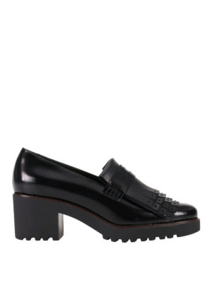 Hogan: Loafers & Slippers - H277 leather fringed loafers