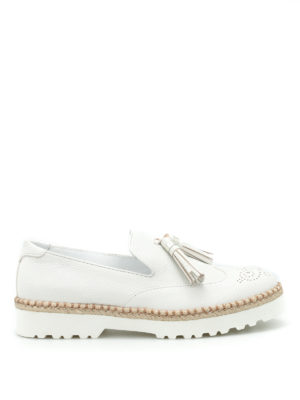 Hogan: Loafers & Slippers - H311 Route tassels detail slip-ons