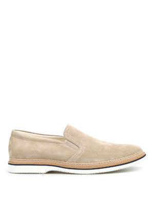 HOGAN: Loafers & Slippers - H316 suede slip-ons