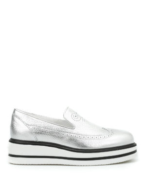 Hogan: Loafers & Slippers - H323 brogue slip-ons