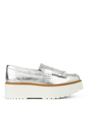 HOGAN: Mocassini e slippers - Mocassini H355 in pelle laminata