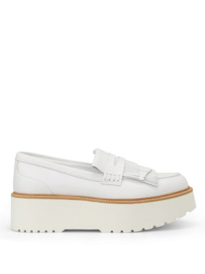 Hogan: Loafers & Slippers - H355 maxi sole leather loafers