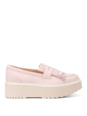 Hogan: Loafers & Slippers - H355 maxi sole pink loafers