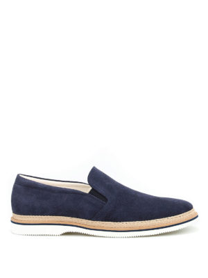 Hogan: Loafers & Slippers - Jute details suede slippers