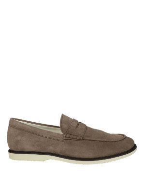 Hogan: Loafers & Slippers - Light brown suede loafers