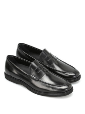 Hogan: Loafers & Slippers online - Brushed leather loafers