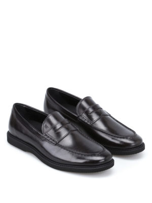 Hogan: Loafers & Slippers online - Club Guardolo leather loafers