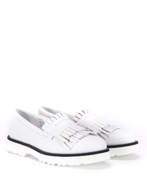 Hogan: Loafers & Slippers online - Fringed leather loafers