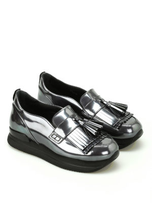 Hogan: Loafers & Slippers online - H222 metallic fringed loafers