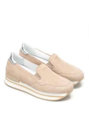 Hogan: Loafers & Slippers online - H222 suede slip-ons