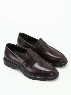 Hogan: Loafers & Slippers online - H304 New Route leather loafers